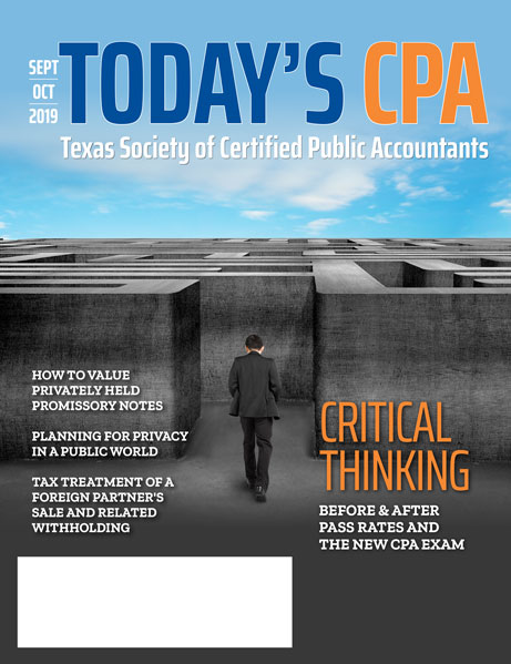 Sept Oct 2019 - Today's CPA Cover