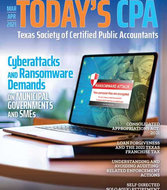 March April 2021 Today's CPA Cover